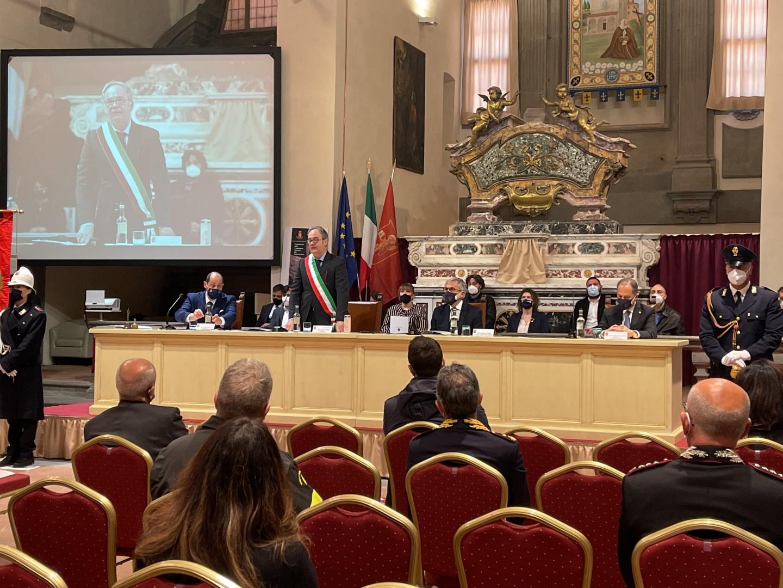 Cortona: la cittadinanza onoraria alla Polizia di Stato