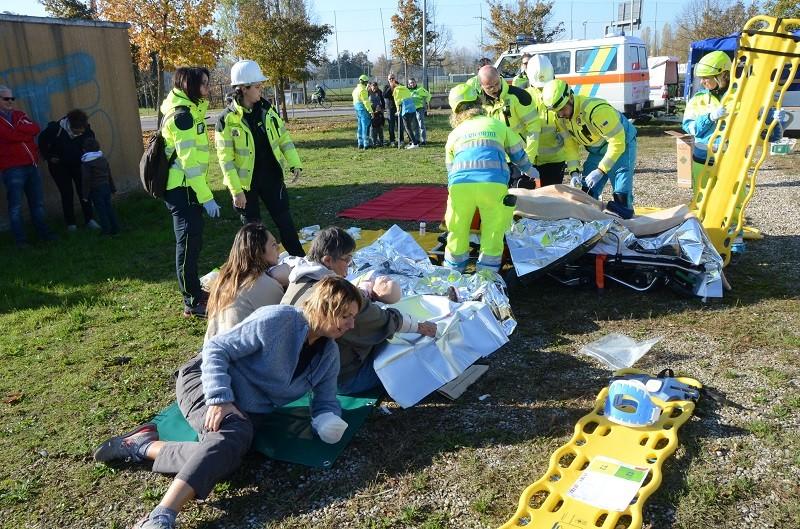 La forza del coordinamento, esercitazione di maxi emergenza ad Arezzo