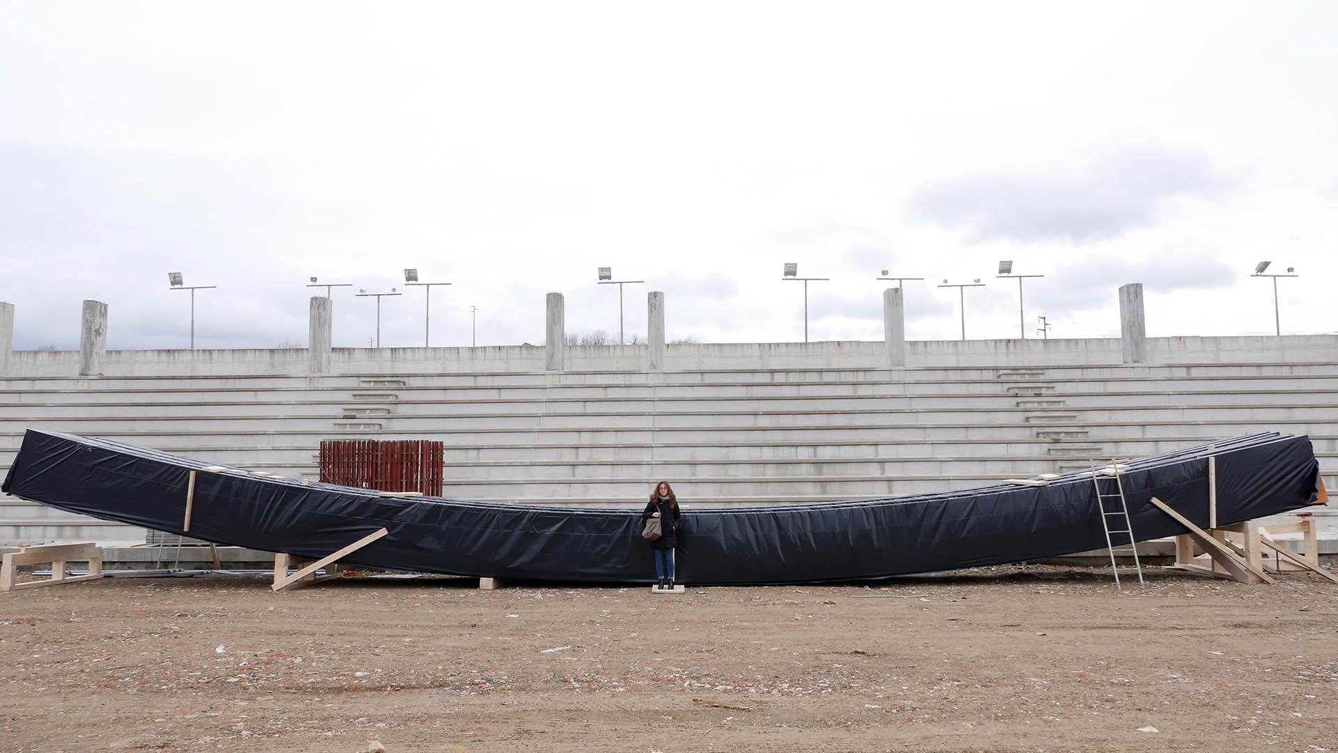 Chiusi: Il Palasport della Pania inizia a prendere forma; arrivata la struttura lamellare