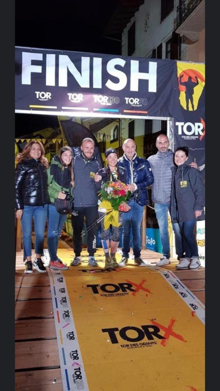 Tatiana Maccherini ed Enrico Pietrelli si fanno onore in Valle D'Aosta alla Tor Des Geants