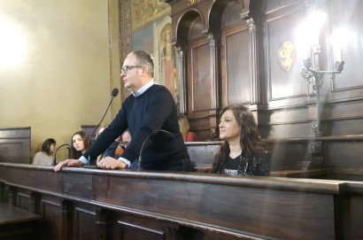 Consegna diplomi OSS nella sala del consiglio comunale di Cortona