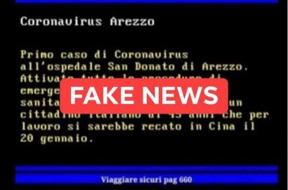 Arezzo, una fake news sul Coronavirus