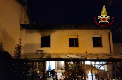 Incendio in una abitazione di Castiglion Fiorentino