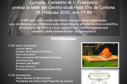 Cortona ricorda Leonardo da Vinci
