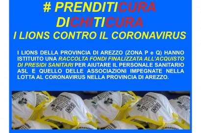 Raccolta fondi dei Lions Club contro il Coronavirus