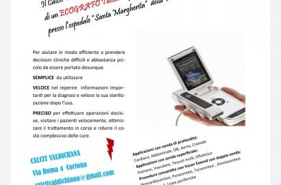 Raccolta fondi del Calcit Valdichiana per l'acquisto di un ecografo per l'ospedale di Fratta