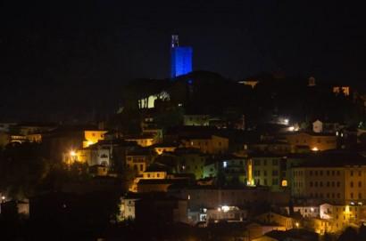 """Colorata di blue la Torre del Cassero per il progetto """"Light it Up Blue"""""""
