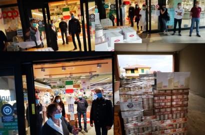 Donazione straordinaria della Coop di Camucia alla Caritas