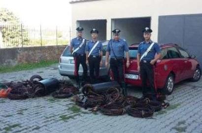 Sventato l'ennesimo furto di rame in Valdichiana, 4 persone in manette