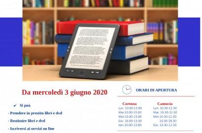 Riaprono le biblioteche di Cortona e Camucia