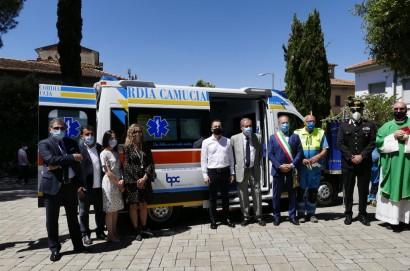 Festa a Camucia per la nuova Ambulanza donata dalla Bpc