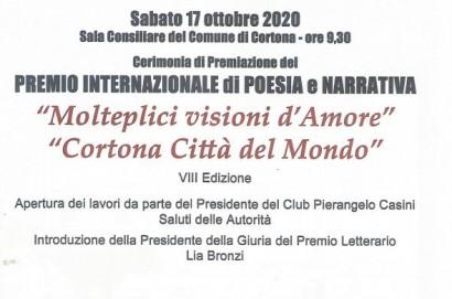 Premio di poesia e narrativa, cerimonia a Cortona