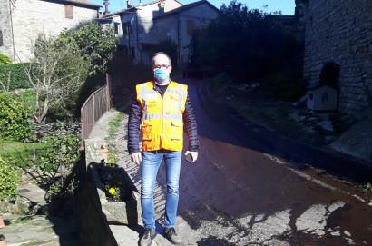 Lavori di asfaltatura a Pierle