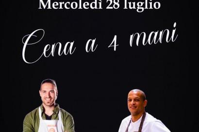 """Al ristorante """"Al Tocco"""" arriva lo chef Duchini per """"Cena a 4 mani"""" ."""