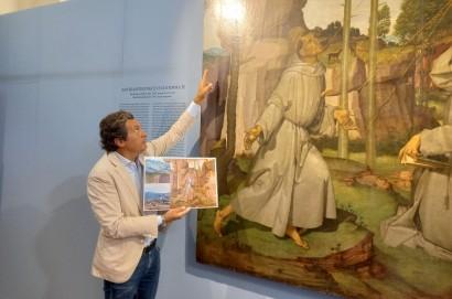 """A Castiglion Fiorentino presentato lo studio fotografico sull'opera di Bartolomeo Della Gatta """"San Francesco che riceve le stigmate""""."""