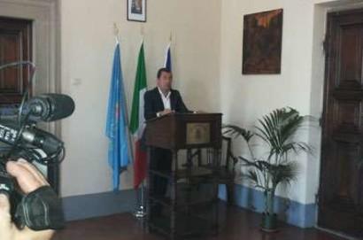 """Antonio Tajani a Castiglion Fiorentino per la Firma della """"Carta degli Etruschi"""""""