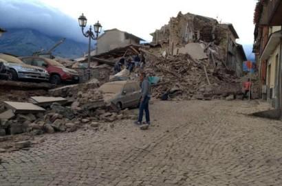 Delegazione aretina sui luoghi del terremoto