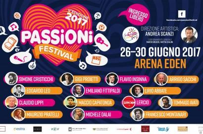 Un Passioni festival grandi firme a ingresso gratuito, venerdì la presentazione