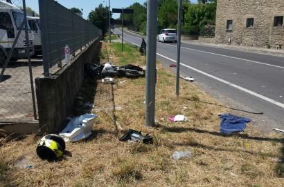 Incidente stradale a Cortona, 14enne portato via con il Pegaso