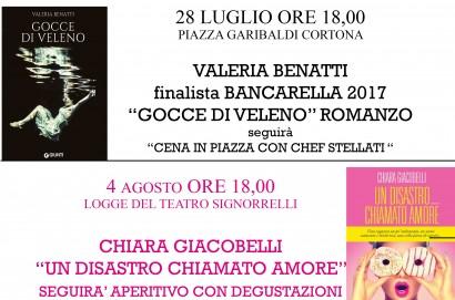 Incontri letterari a Cortona. Venerdi 4 agosto arriva Chiara Giacobelli