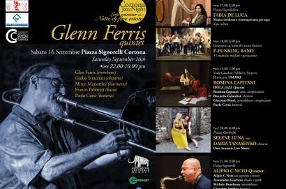 Sabato 16 Settembre ritorna il Cortona Jazz Night con Glenn Ferris