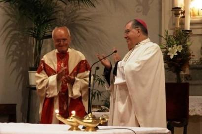 Don Giuliano Faralli a nozze d'argento  con le sue parrocchie