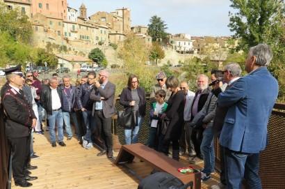 Montepulciano, inaugurata la passerella pedonale delle Fontacce