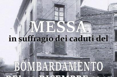 Domenica 17 dicembre Santa Messa in suffragio delle vittime del bombardamento del 19 dicembre 1943