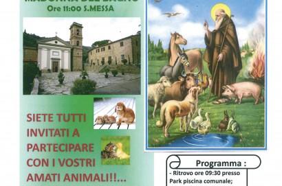 Benedizione degli animali: Domenica 21 gennaio al Santuario della Madonna del Bagno