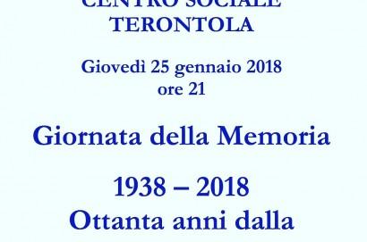 80 anni dalla promulgazione delle leggi razziali in Italia- incontro a Terontola per parlarne