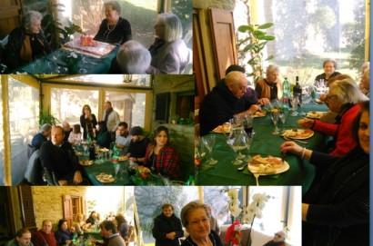 """Festeggiati all'agriturismo """" Casale 36"""" gli ottant'anni di Dina Alunni Cipollini ."""