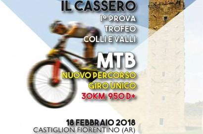 """""""Trofeo il Cassero"""", gara di mountain bike- Domenica a Castiglion Fiorentino"""