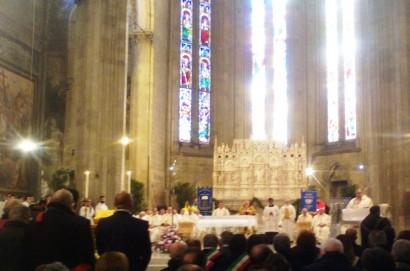 Breve incontro con due sinodali cortonesi in Duomo ad Arezzo.