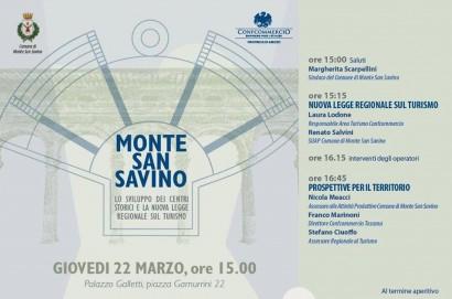 Valdichiana: a Monte San Savino si parla di turismo