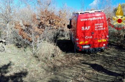 Castiglionese si perde nei boschi, salvato dai vigili del fuoco