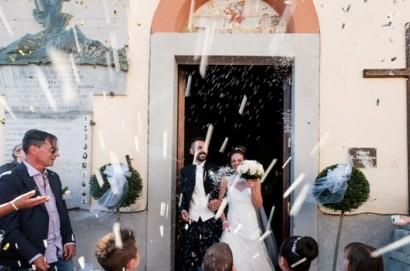 I terontolesi Michela e Giuseppe sposi in Borghetto.