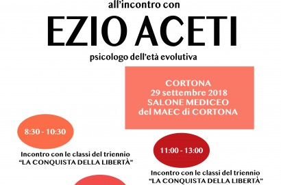 Ezio Aceti a Cortona per un evento organizzato dall'Istituto Luca Signorelli
