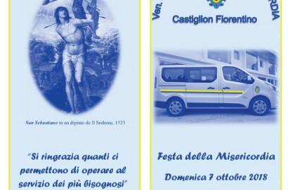 Festa della Misericordia, domenica 7 ottobre a Castiglion Fiorentino