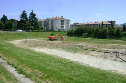 Area ex Maialina a Camucia – Non solo giardini e parco giochi ma anche area archeologica