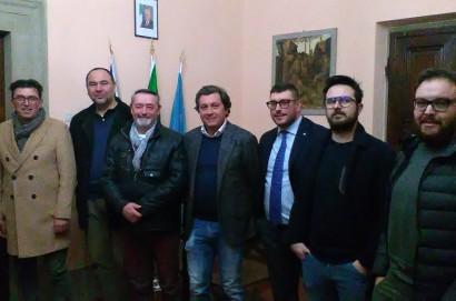 Incontro ufficiale tra il magistrato Alessandro Singali, i Presidenti e i capitani dei Rioni.