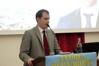 Centro Sant'Agostino gremito per la presentazione del candidato a Sindaco di Cortona Andrea Bernardini