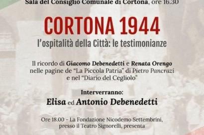 """""""Cortona 1944"""" evento-incontro il 24 aprile in sala del Consiglio Comunale"""
