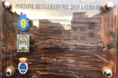 Ente Serristori e le Confraternite di Misericordia e della Madonna del Bagno insieme per il restauro del portone della Chiesa di San Francesco