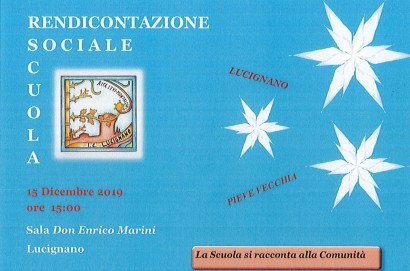"""Rendicontazione sociale 2019: l'Istituto Comprensivo """"Rita Levi-Montalcini"""" di Lucignano si racconta alla comunità"""