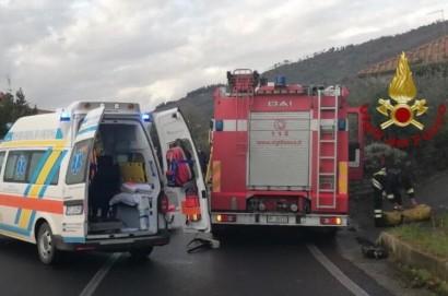 Incidente stradale a Mezzavia di Cortona