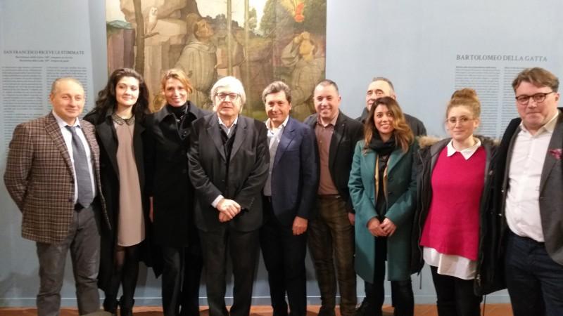 """Sgarbi tiene a battesimo la convenzione tra il Museo della """"Madonna del Parto"""" di Monterchi e il Sistema Museale Castiglionese"""