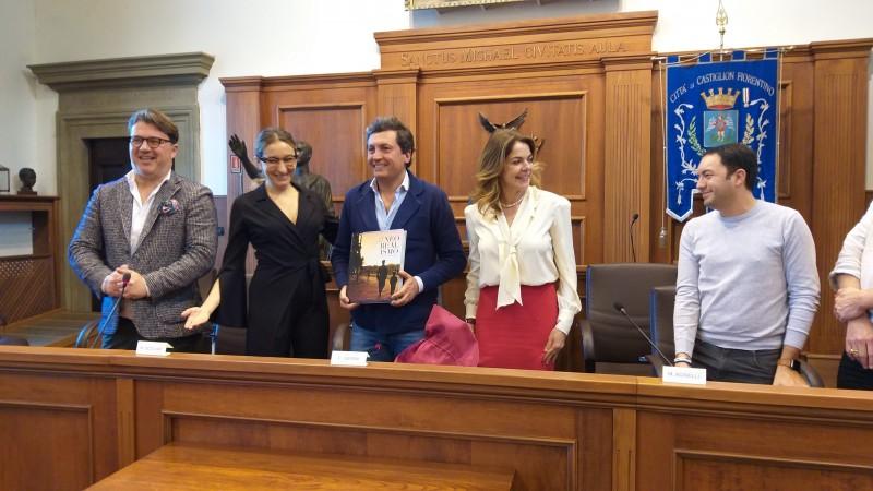 """Castiglion Fiorentino Città del Cinema. Claudia Gerini: """"accolta come una regina!""""."""