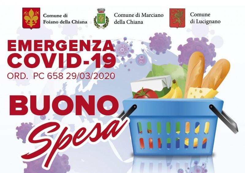 Arrivano i buoni spesa a Lucignano, Foiano della Chiana e Marciano