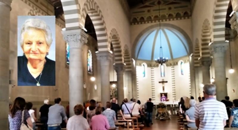 L'ultimo saluto di Camucia a Nunzia Calzini Borgogni
