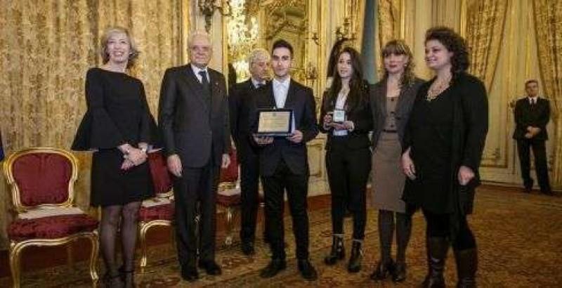 Studente di Cortona premiato al Quirinale dal Presidente della Repubblica Sergio Mattarella